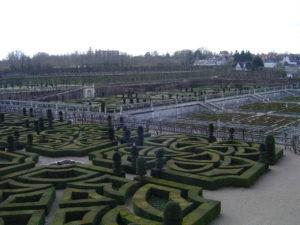 Chateau's gardens at Villandry