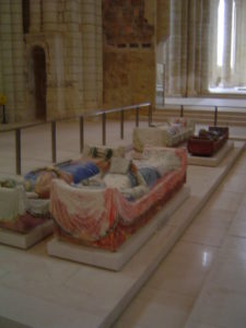 bodies of two English kings and Eleanor of Aquitaine